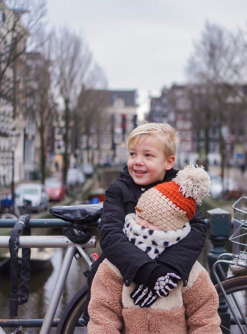 Stadswandeling met kinderen door lockdown Amsterdam