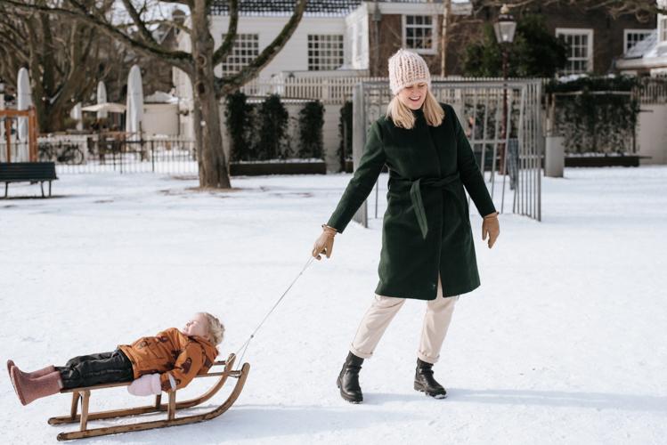Amsterdam sneeuw fotoshoot