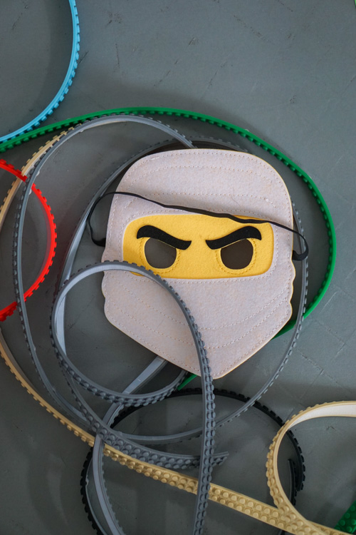 lego ninjago kinderfeestje tape masker