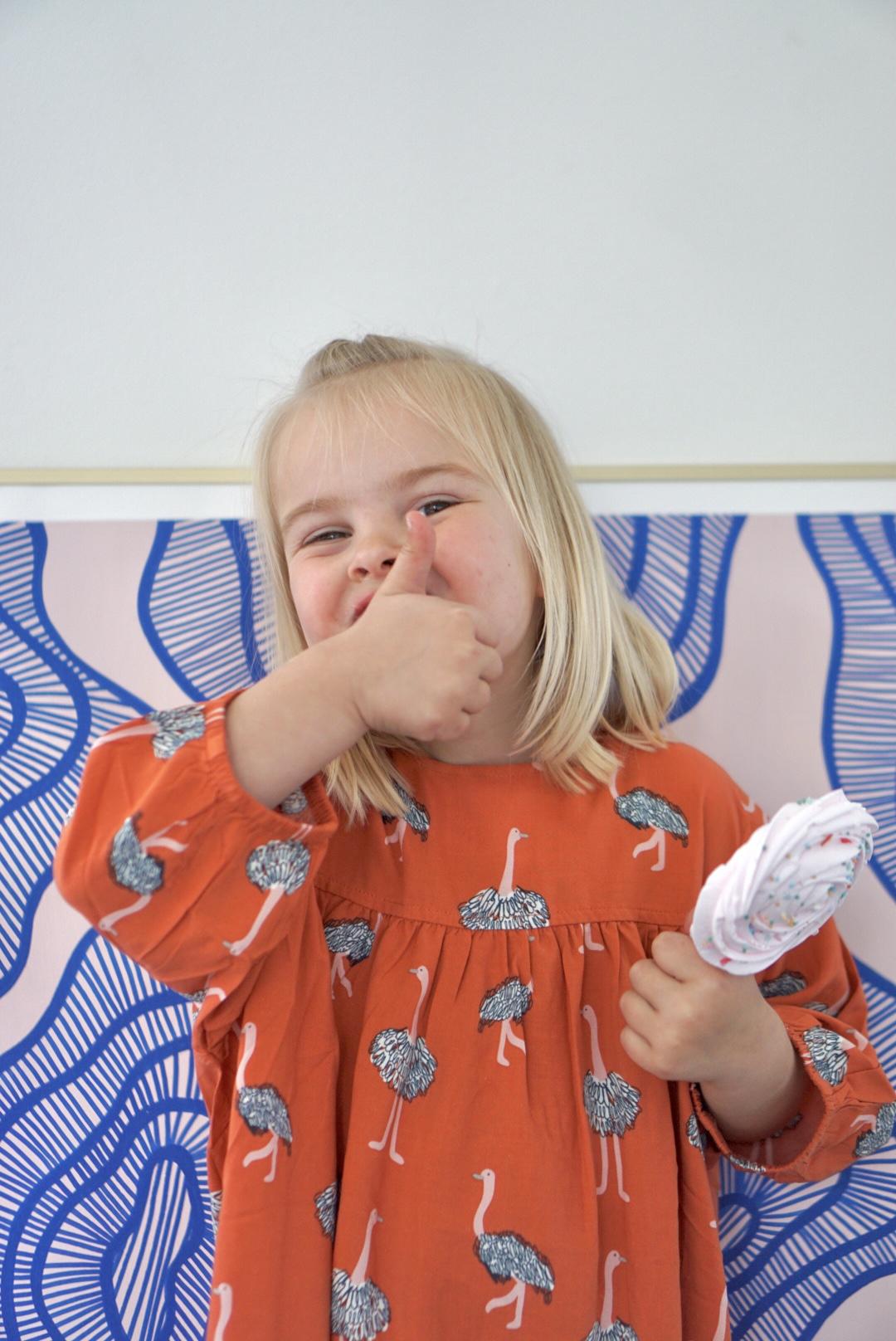 compania fantastica mini zomerjurk duurzame kinderkledin