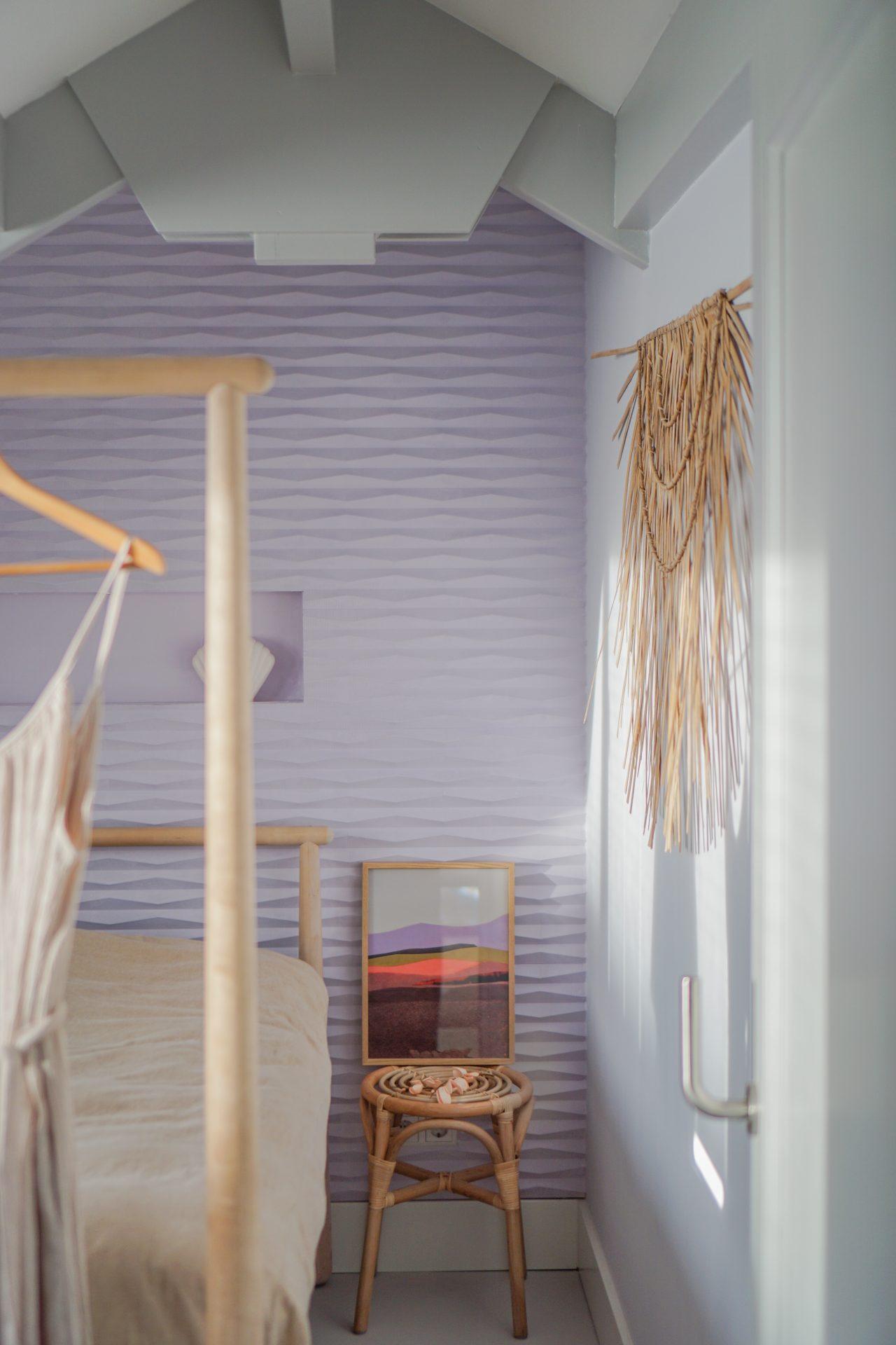 pastel slaapkamr scandinavisch interieur