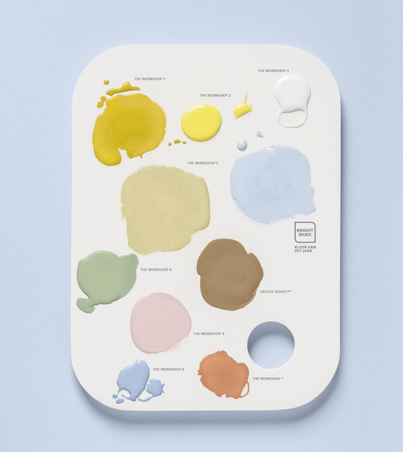 Flexa-Kleur-van-het-Jaar-2022-Bright-Skies-Kleurentrends-2022-Workshop-kleurpalet-met-namen