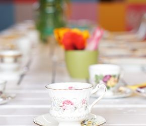 vintage theekopje babyshower high tea pluktuin