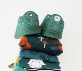 kindermode winter groen velvet